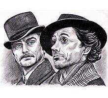 Robert Downey Jr and Jude Law, Sherlock and Watson Photographic Print