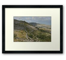 The barren burren national park Framed Print