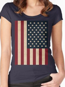 USA FLAG Women's Fitted Scoop T-Shirt