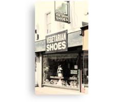 Vegetarian Shoes Canvas Print