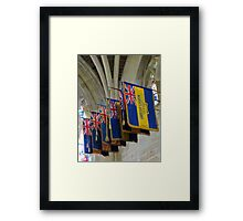Colourful Flags, Exeter Cathedral, Devon Framed Print