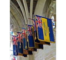 Colourful Flags, Exeter Cathedral, Devon Photographic Print