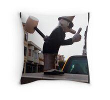 The Termite Man Throw Pillow