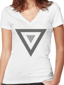 Mexican Air Force Insignia (Low Vis) Women's Fitted V-Neck T-Shirt