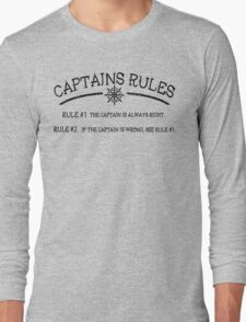 Captains Rules Long Sleeve T-Shirt