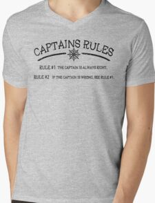 Captains Rules Mens V-Neck T-Shirt