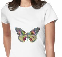 Patchwork Butterfly Womens Fitted T-Shirt