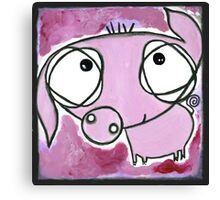 Darling Piglet roaming the field Canvas Print