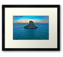 China Man's Hat - Kualoa Beach Park Framed Print
