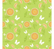 Abstract seamless vector texture with bright flowers Photographic Print