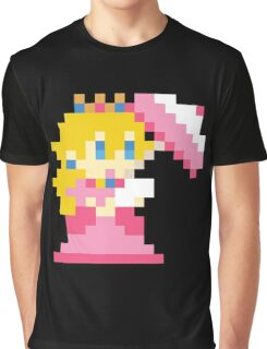 Super Mario Maker - Princess Peach Costume Sprite Graphic T-Shirt