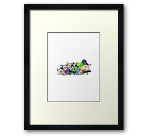 Nuclear Throne - All Characters - HIGH QUALITY Framed Print