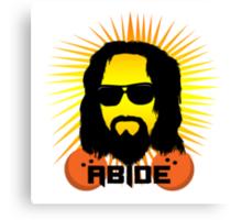 Abide Dude T Shirt Canvas Print