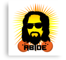 Abide Dude T Shirt Canvas Print