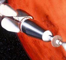 Future Manned Mars Mission in Orbit Sticker