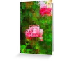 Pink Roses in Anzures 5  Abstract Circles 2 Greeting Card