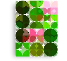 Pink Roses in Anzures 5  Abstract Circles 3 Canvas Print