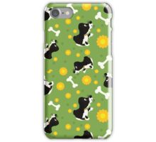 Collection of playing dogs of different breeds. Seamless. iPhone Case/Skin
