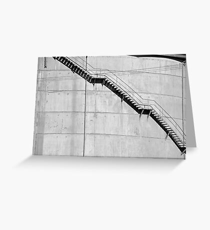 Water Tower Stairs Greeting Card