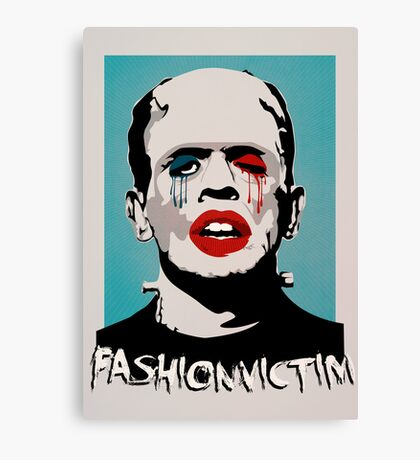 =FASHIONVICTIM= Canvas Print
