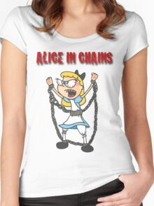 """""""Alice In Chains"""" Women's Fitted Scoop T-Shirt"""