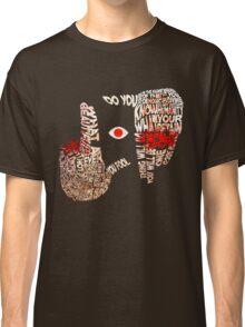 Hellsing - Alucard Typography Classic T-Shirt