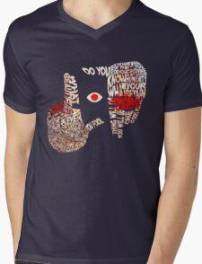 Hellsing - Alucard Typography Mens V-Neck T-Shirt