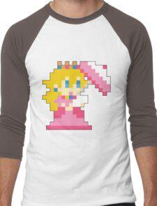 Super Mario Maker - Princess Peach Costume Sprite Men's Baseball ¾ T-Shirt