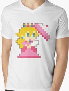 Super Mario Maker - Princess Peach Costume Sprite Mens V-Neck T-Shirt