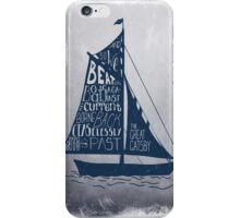 Great Gatsby Boat Quote iPhone Case/Skin
