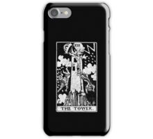 The Tower Tarot Card - Major Arcana - fortune telling - occult iPhone Case/Skin