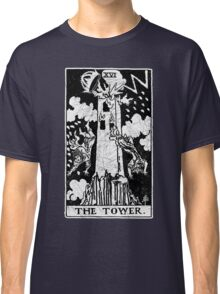 The Tower Tarot Card - Major Arcana - fortune telling - occult Classic T-Shirt