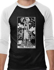 The Tower Tarot Card - Major Arcana - fortune telling - occult Men's Baseball ¾ T-Shirt