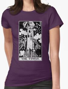 The Tower Tarot Card - Major Arcana - fortune telling - occult Womens Fitted T-Shirt