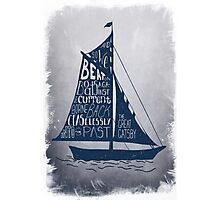 Great Gatsby Boat Quote Photographic Print