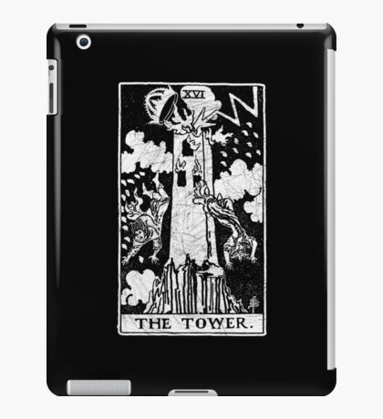 The Tower Tarot Card - Major Arcana - fortune telling - occult iPad Case/Skin
