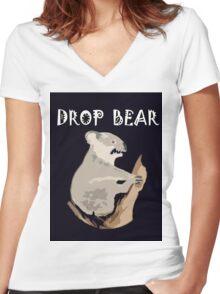DROP BEAR Women's Fitted V-Neck T-Shirt