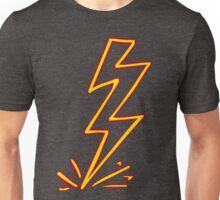 Red and yellow lightning Unisex T-Shirt