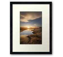 Meeting at Sunset Framed Print