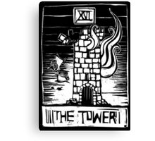 The Tower - Tarot Cards - Major Arcana Canvas Print