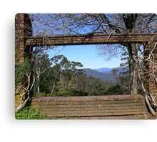 Framing the Blue Mtns Canvas Print