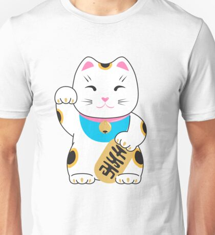 Maneki-neko good luck cat pattern Unisex T-Shirt