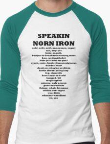Speakin speaking Norn Iron Northern Ireland Men's Baseball ¾ T-Shirt