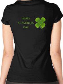 HAPPY ST PATRICKS DAY Women's Fitted Scoop T-Shirt