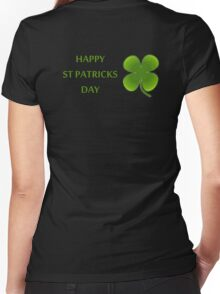 HAPPY ST PATRICKS DAY Women's Fitted V-Neck T-Shirt