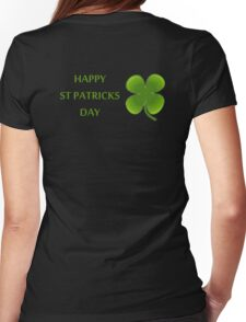 HAPPY ST PATRICKS DAY Womens Fitted T-Shirt