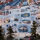 Painted Downtown Wall, Anchorage, Alaska. 2012. by johnrf