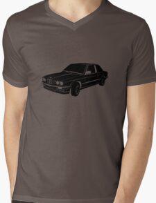 BMW E30 vector black Mens V-Neck T-Shirt
