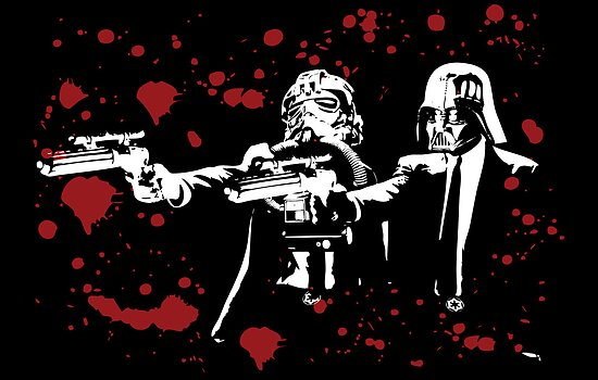 "Darth Vader - Say ""What"" Again! Version 2 (Blood Splatter) by KAMonkey"