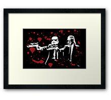 """Darth Vader - Say """"What"""" Again! Version 3 (Blood Splatter) Framed Print"""